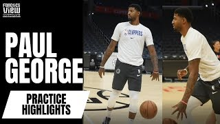 Paul George CLOSE TO GAME READY Works on Jumper, Crossovers at Clippers Practice