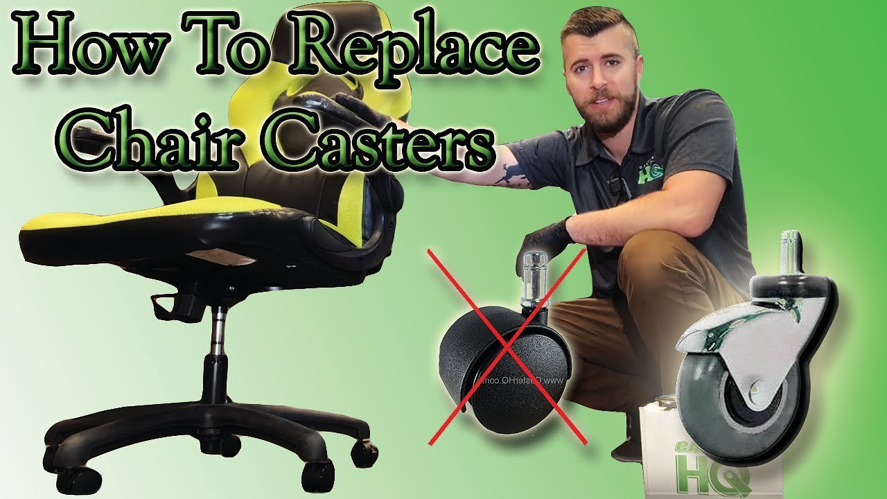 How To Replace Office Chair Casters Full Install Video Youtube