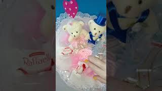 Букет из игрушек-мишек и конфет Жених и невеста - эксклюзивный подарок на свадьбу|Украина