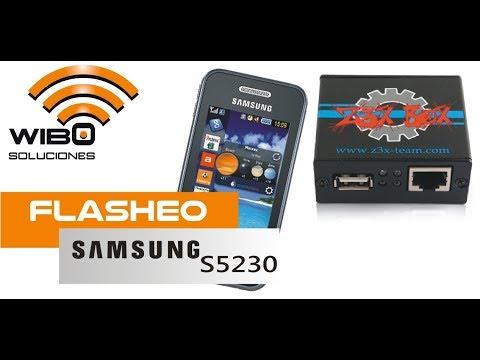 FLASHEO SAMSUNG S5230 CON Z3X BOX