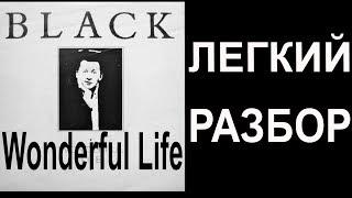 Black Wonderful Life ЛЕГКИЙ РАЗБОР на гитаре всей песни Как играть легко
