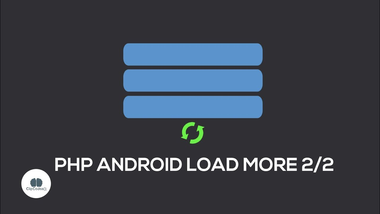 PHP Pagination with Android Endless Load More Recyclerview Tutorials 2 of 2