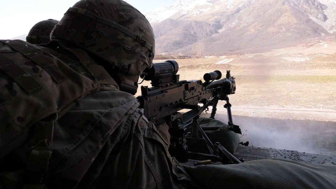 U.S. Army Paratroopers • M240B Machine Gun Live Fire • Italy Feb 24, 2021