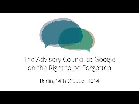 Advisory Council Meeting, 14 October, Berlin