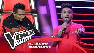 Daham Fernando - Sihinen (සිහිනෙන්) | Blind Auditions | The Voice Sri Lanka