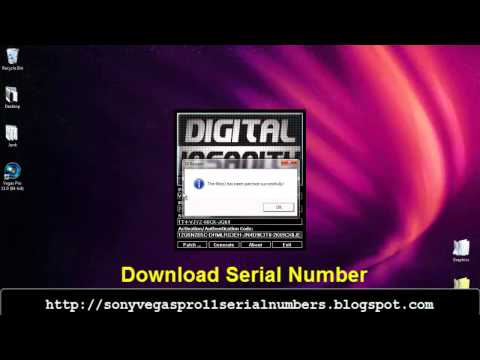 Sony Vegas Pro 11 serial number and activation code 2013
