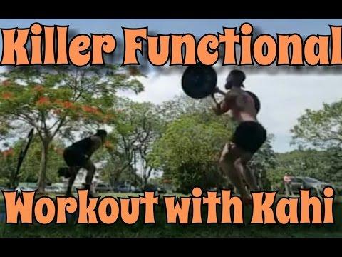 Killer Functional Workout - Thrusters & BOR, KB Swings & Push Press, Burpees & M Climber, Run 200