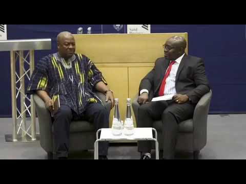 Former President John Mahama Being Interviewed!