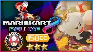 Mario Kart 8 Deluxe - Part 1   Mushroom Cup 150cc Triple-Star! [Nintendo Switch Gameplay]