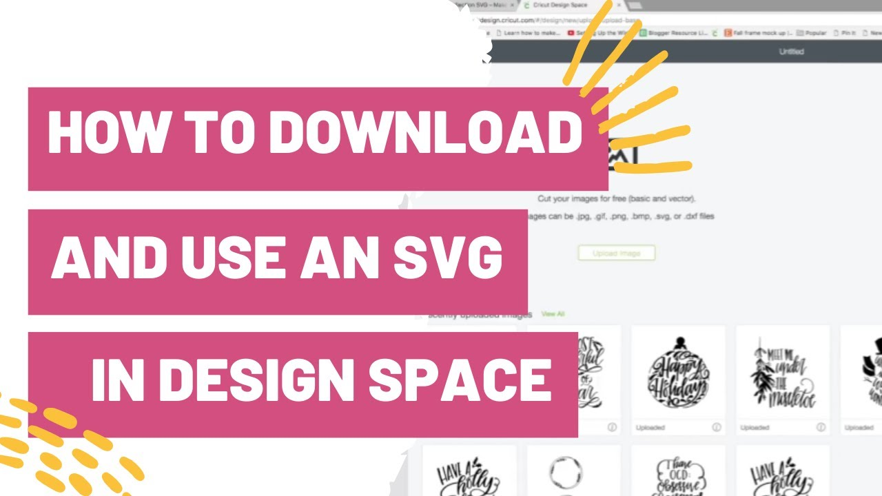How To Download And Use An Svg In Cricut Design Space Youtube