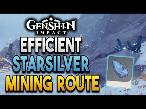 【Genshin Impact】Efficient Starsilver Mining Route! - Up to 100 per run!