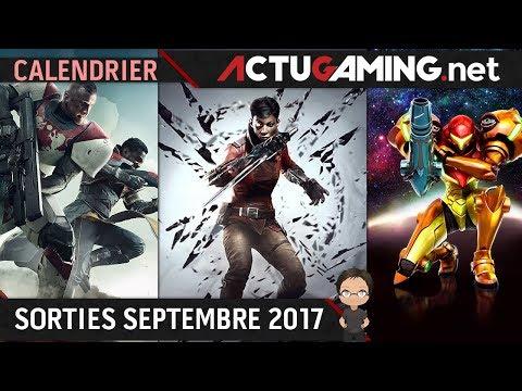 Calendrier : Les sorties jeux vidéo Septembre 2017
