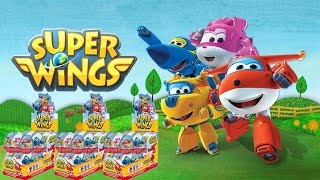 UNBOXING 24 EGGS SURPRISE OVETTI SUPER WINGS SORPRESA UOVA DI CIOCCOLATO ITALIANO AEREI 1° P MUSICA