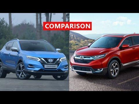 2017 Nissan Qashqai vs 2017 Honda CR-V Comparison - INTERIOR, EXTERIOR, TEST DRIVE