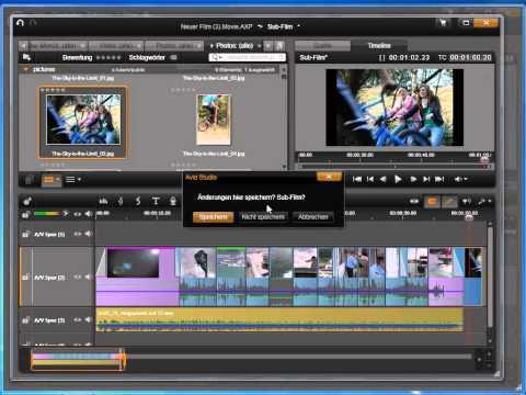 Projekte kombinieren in Avid studio und Pinnacle Studio