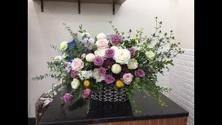 Hướng dẫn cắm hoa (How to make modern flower baskets)