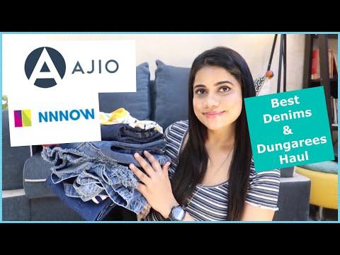 Denims & Dungarees | Are Brands Original on Ajio | Levi's Haul | Sana K