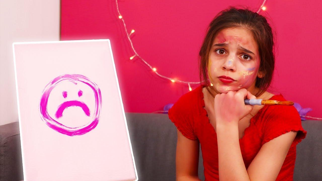Isabella's Magic Painting Fail ???? Princesses In Real Life   Kiddyzuzaa