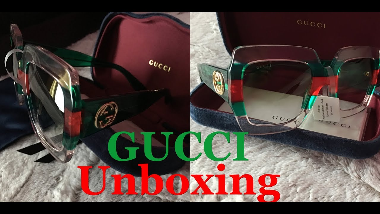 ed7496db486 GUCCI square - frame acetate SUNGLASSES 2018 CRUISE UNBOXING ...