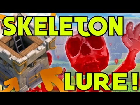 SKELETON SPELL & CLAN CASTLES [New Dark Spell, Clash Of Clans] LURING, TRIGGERING, & MORE!