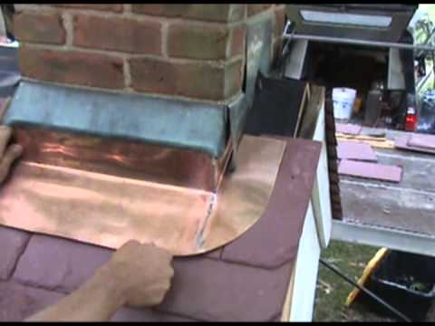 Fabricating A Soldered Copper Chimney Apron On A Brick
