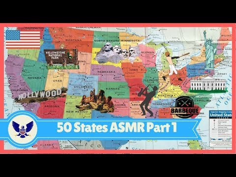 [ASMR] US Geography: State by State Part 1