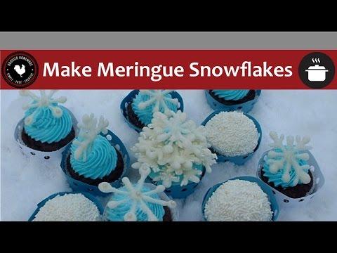 How to make Meringue Snowflakes - Baking 101
