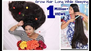 Grow Hair LONG While SLEEPING| Hair Growth Hacks For Lazy Girls|Sushmita's Diaries