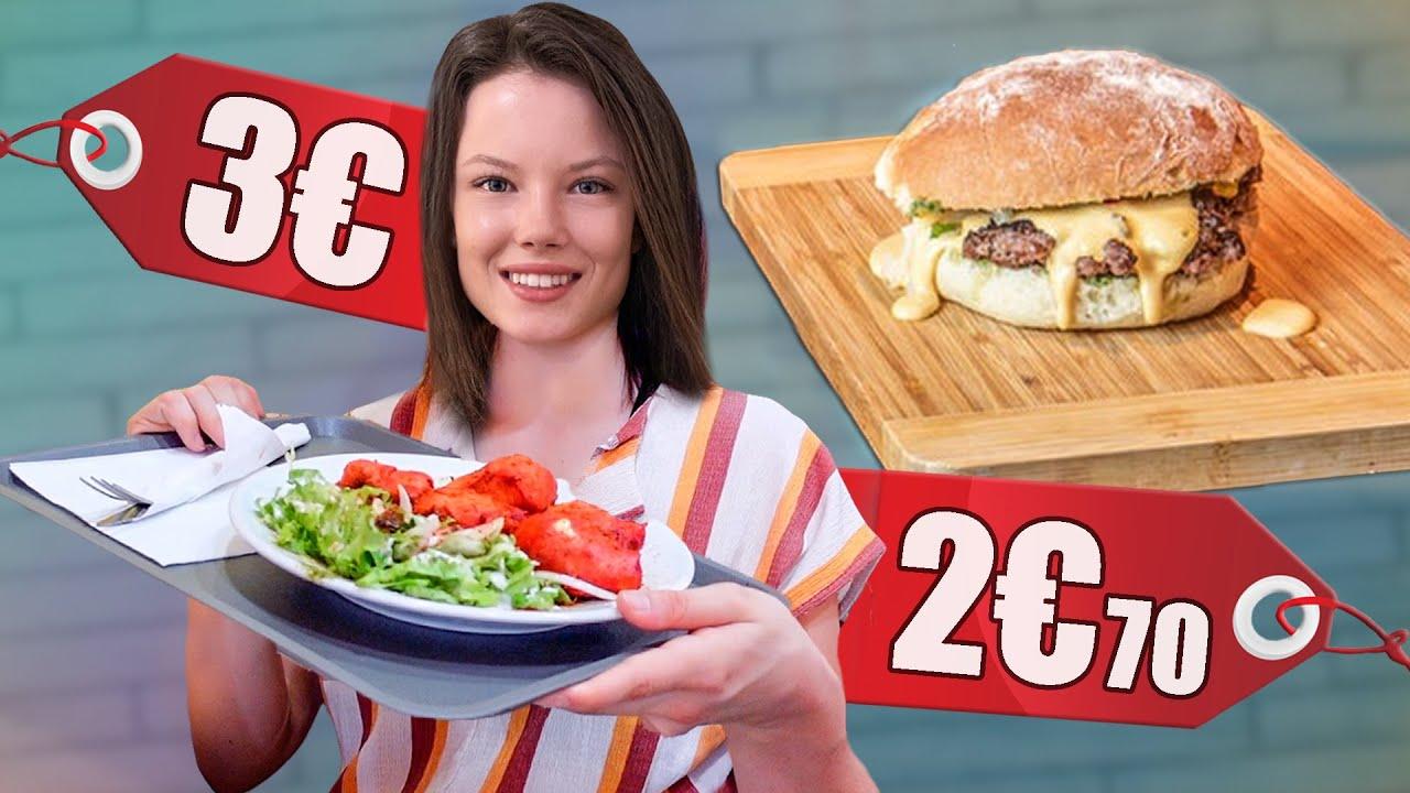 JE TESTE LES REPAS LES MOINS CHÈRE DE FRANCE (Burger, Street Food...) ! - ÉPISODE 2 À PARIS - Claire