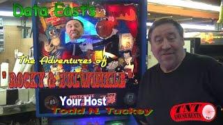 #826 Data East The Adventures of ROCKY & BULLWINKLE Pinball Machine - TNT Amusements