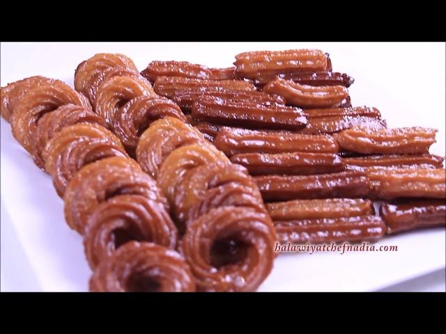 شباكية البوق الزلابية الطويلة بطريقة احترافية للاحتفاظ مدة اطول حلويات رمضان