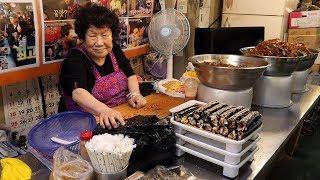 한자리 40년! 우엉김밥 40 years career! driedseaweedrolls grandma gimbab / korean street food