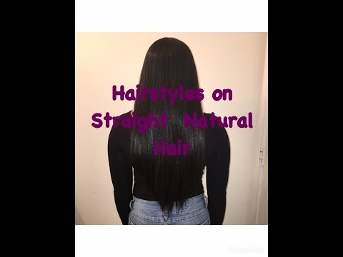 Hairstyles On Waist Length Straight Natural Hair