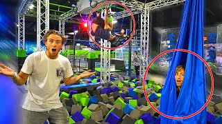 Hide N Seek in NINJA WARRIOR COURSE PARK! *if found, PUBLIC DARE*