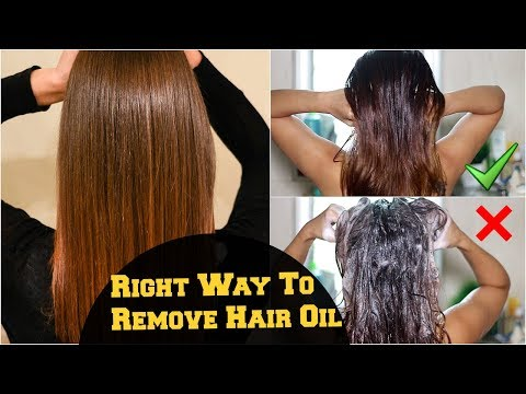 How To: Wash & Remove Excess Hair Oil From Scalp And Hair Correctly/ Hair Care Tips & Routine