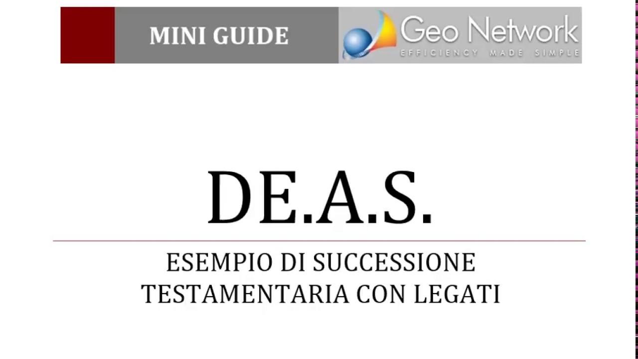 Exceptional A.S.   Esempio Di Successione Testamentaria Con Legati (modello Telematico)