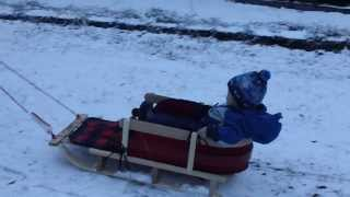 Max's First Sled Ride - 18 Months