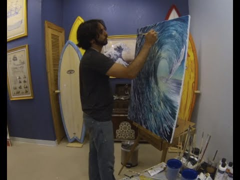 Artist Jay Alders Live Painting At The Pirate Coast Gallery