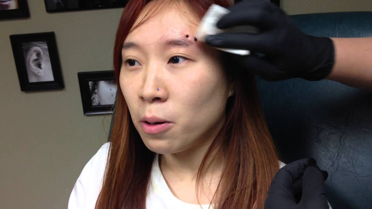 Horizontal Eyebrow Piercing Experience Youtube