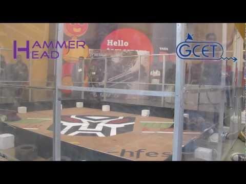 Robowars , Techfest 2011 , IIT-Bombay (Hammerhead)