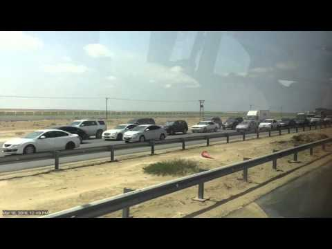 Traffic pileup in Dubai to Abu Dhabi road