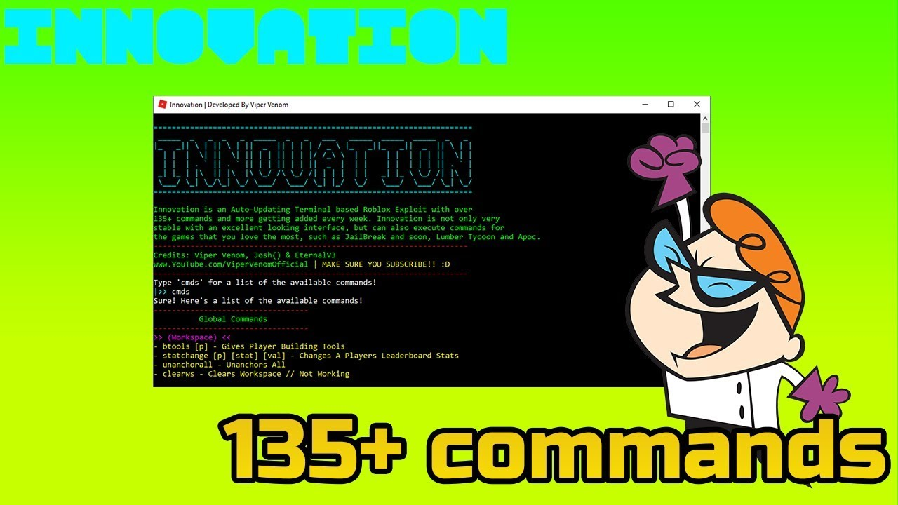 ✅[FREE] NEW ROBLOX HACK! INNOVATION UPDATED [135+ COMMANDS!] CRAZY/OP  [patched] 2017✅