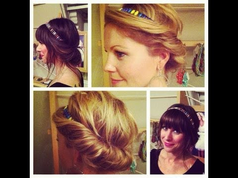 Hair Tutorial | Quick U0026 Easy Vintage Hairstyle | Headband Tuck Updo |  Lemusingsofmoi