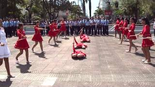 Baton Ballet del Colegio Arroyo Hondo/ Marcha de Salida de Ofrenda Floral