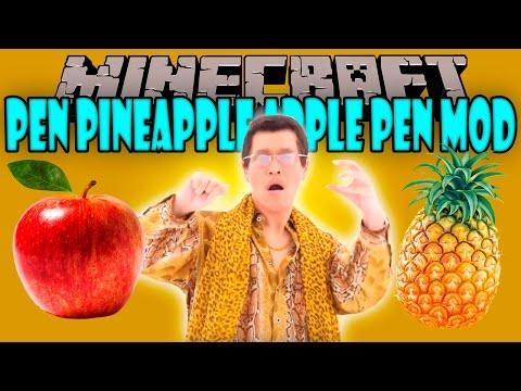 PEN PINEAPPLE APPLE PEN MOD - No descargues esto! - Minecraft mod 1.10.2 Review ESPAÑOL