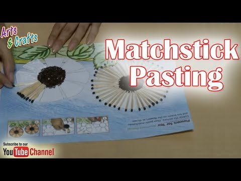 Matchstick Crafts How To Make A Flower