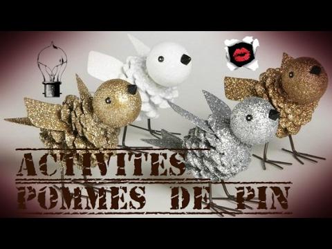 Activit s pour enfants avec des pommes de pin youtube - Decoration avec des pommes de pin ...