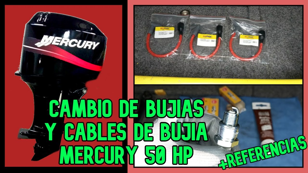 🔧TUTORIAL cambiar BUJIAS y CABLES MERCURY 50 | change SPARK PLUGS and MERCURY 50 CABLES