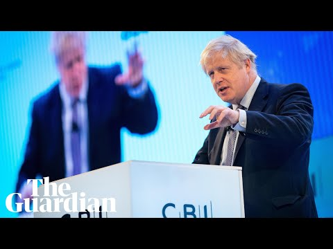 Boris Johnson tells business leaders Tories will end Brexit uncertainty
