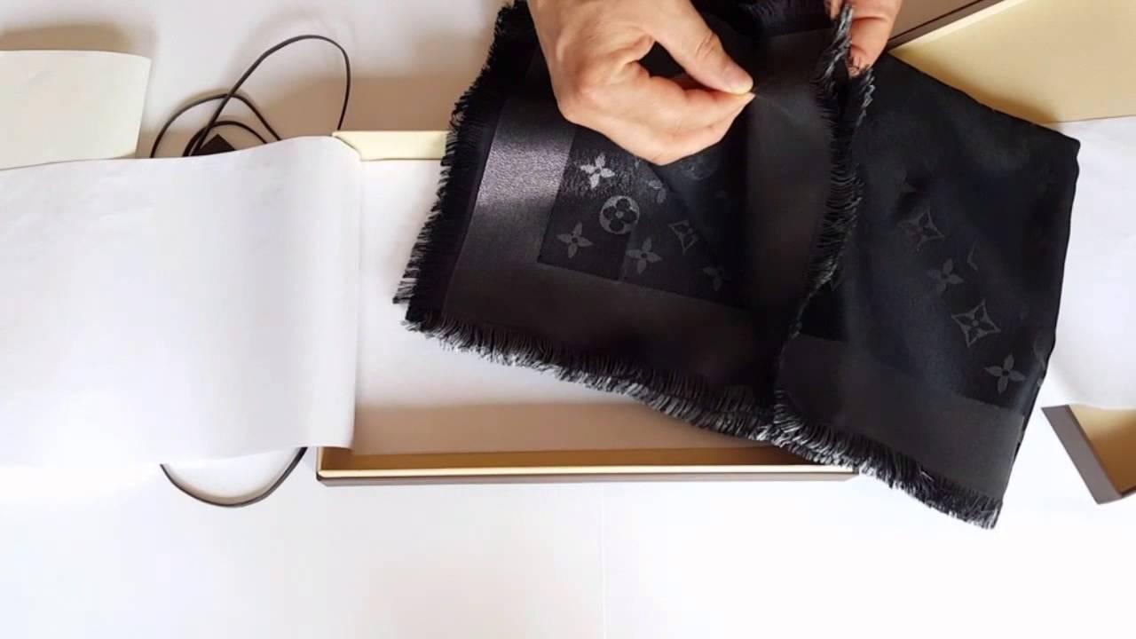 Распаковка оригинальной шали Louis Vuitton - YouTube 8d133bb04e2